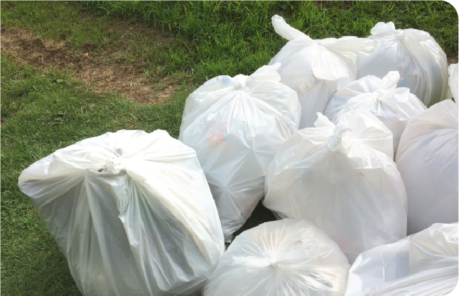 引越当日ゴミが増えてもすべておまかせください。